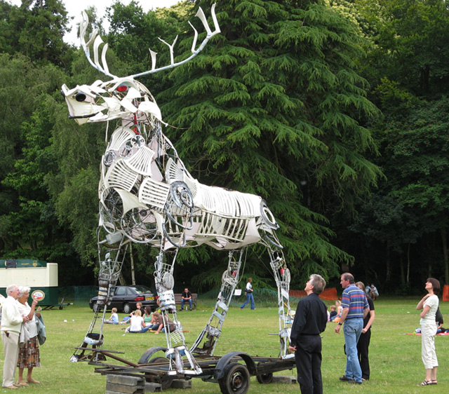 The Beast of Bracknell, made from detritus from Bracknell civic waste centre and summoned in a communal ceremony at the finale of the Big Day Out Festival 2008
