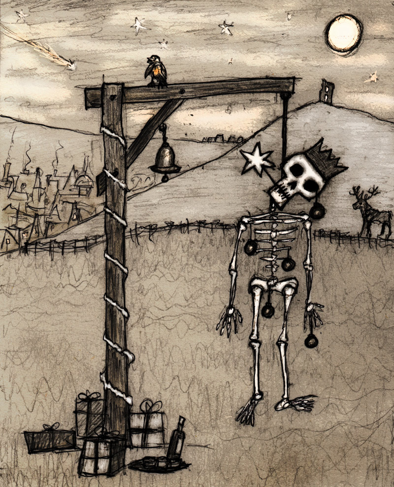 Decorating the Festive Gallows - Winter tales: a series of imaginary folk rituals.