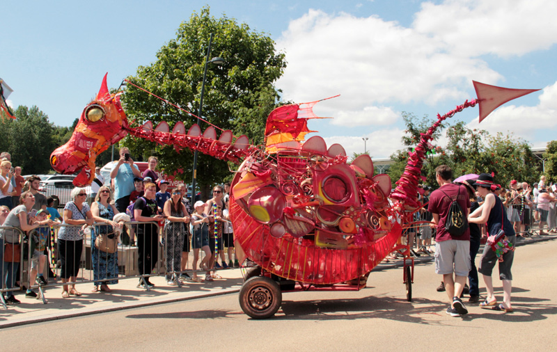 Dragon built for Telford Carnival of Giants, 2018.