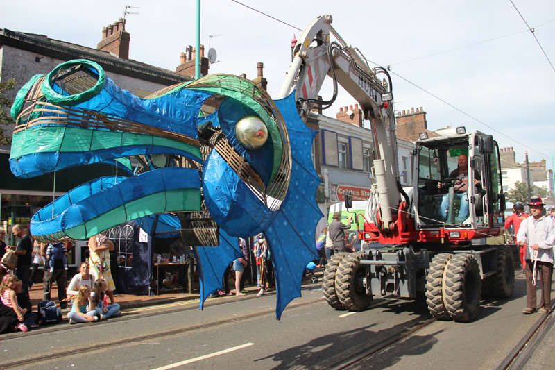 Leviathan sea monster for Spare Parts parade 2016