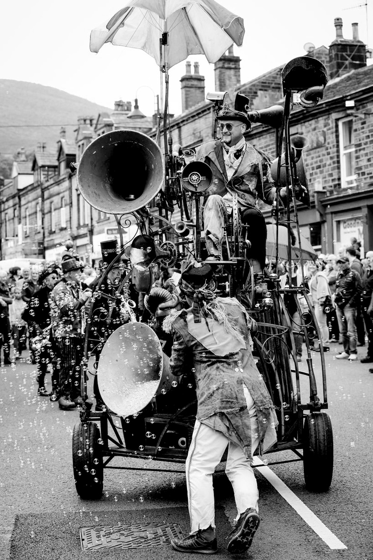 The Hurly Burly mobile sound sculpture at the Marsden Jazz Festival 2015