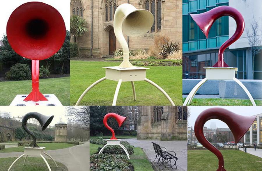 Mythophones - solar powered sound sculptures, a collaboration with sound artist/musician Dan Fox
