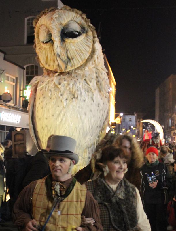 Owl, made for Macnas Parade 2016
