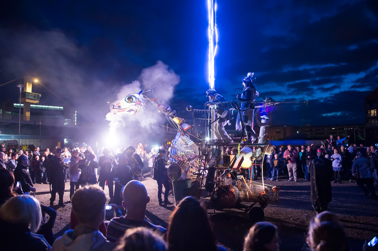 A beast charming ceremony for Hull Freedom Festival 2015